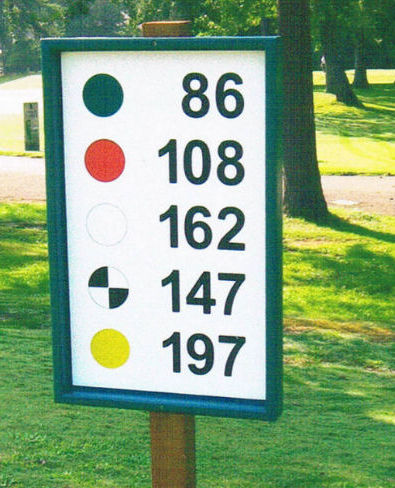 GOLF RANGE YARDAGE SIGNS - AUG 2009