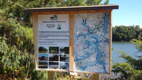 Watershed Assoc. of Tellico Lake-Heron Island Kiosk-2014
